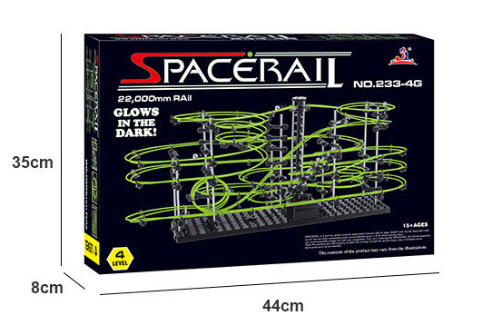 Spacerail - wymiary opakowania