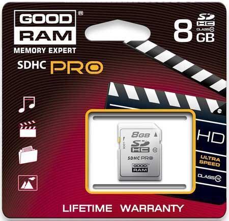 Karta Pamieci Sdhc Pro Goodram 8gb Class 10 Sklep Internetowy Seltrade