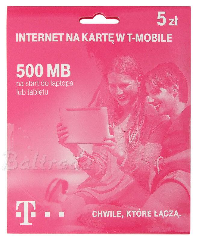T Mobile Na Karte.Starter T Mobile Internet Na Kartę 500 Mb 5zł