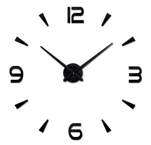 Zegar ścienny Naklejany Z 4 Dużymi Cyframi Duży 80 120 Cm Czarny Sklep Internetowy Seltrade
