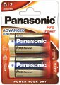 2 x Panasonic Alkaline PRO Power LR20/D (blister)