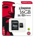 Kingston Canvas Select microSDHC 16GB class 10 UHS-I U1 - 80MB/s + adapter SD