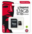 Kingston Canvas Select microSDXC 128GB class 10 UHS-I U1 - 80MB/s + adapter SD