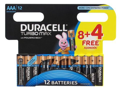 Baterie alkaliczne Duracell Duralock Turbo Max LR03 AAA (blister)