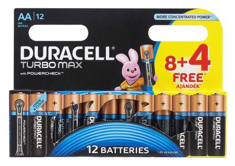 Baterie alkaliczne Duracell Duralock Turbo Max LR6 AA (blister)
