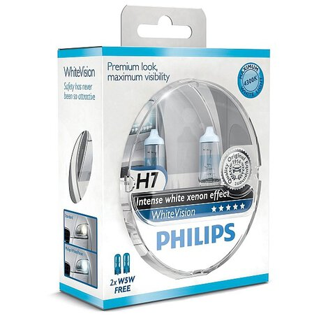 Philips H7 WhiteVision + 2x W5W