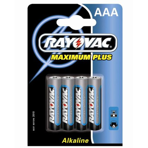 4 x Rayovac Maximum Plus LR03 AAA MN2400 4003 (blister)