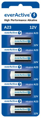 5 x baterie alkaliczne everActive 23A 12V