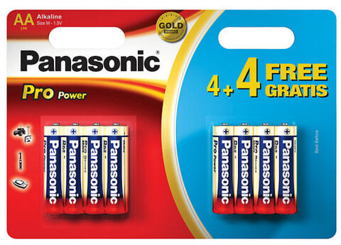 8 x Panasonic Alkaline PRO Power LR6/AA (blister)
