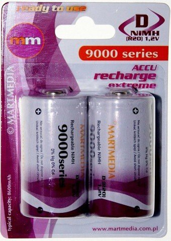 Akumulatorki MM R20 D Ni-MH 9000mAh ready to use