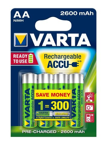Akumulatorki Varta Pro Ready2use R6 AA 2600mAh