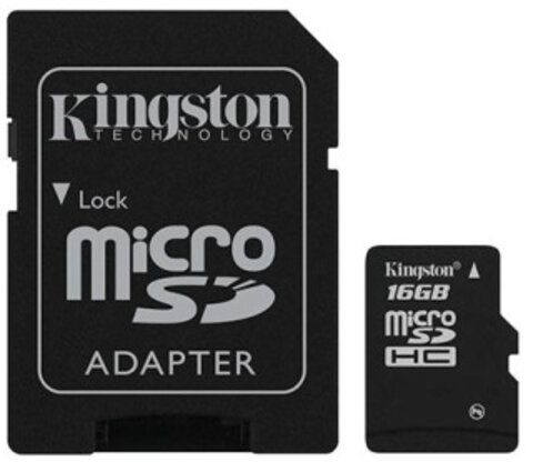 Karta pamięci Kingston micro SDHC 16GB Class 4 z adapterem SD