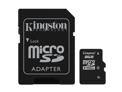 Karta pamięci Kingston micro SDHC 8GB Class 4 z adapterem SD