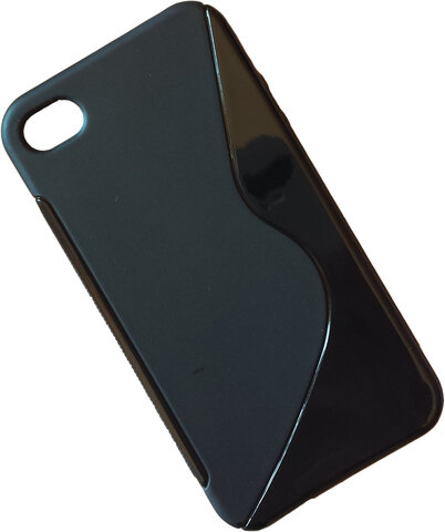 "Nakładka (Back Cover) ""S-Case"" iPhone 4/4s solid black"