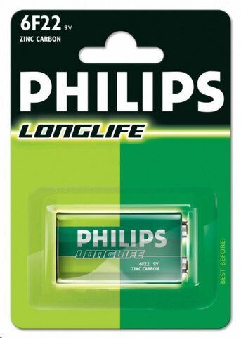 Philips LongLife 6F22/9V (Blister)