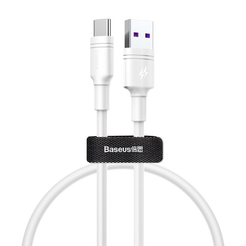 Baseus kabel Double-ring USB - USB-C 0,5 m 5A biały