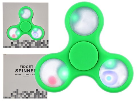 Fidget Spinner Minele LED Green