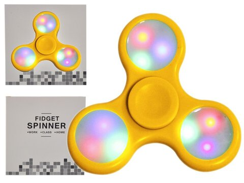 Fidget Spinner Minele LED Yellow