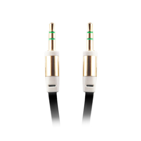 Kabel adapter 3,5mm audio jack / 3,5 aux cable czarny