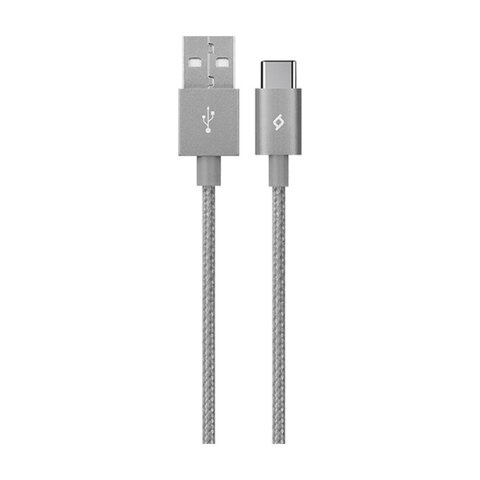 Kabel TTEC Alumicable USB 2.0 typ C szary