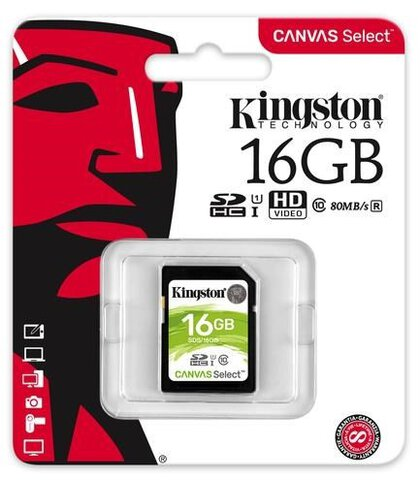 Kingston Canvas Select SDHC 16GB class 10 UHS-I U1 - 80MB/s