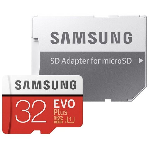 Karta pamięci Samsung EVO PLUS microSDHC 32GB UHS-I U1 class 10 + adapter do SD