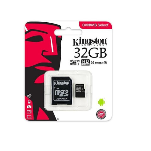 Kingston Canvas Select karta pamięci microSDHC 32GB, UHS-I, klasa 10 z adapterem