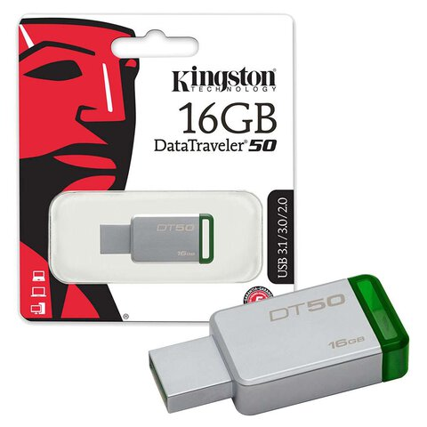 Kingston pendrive DT 50 16GB USB 3.0 zielony