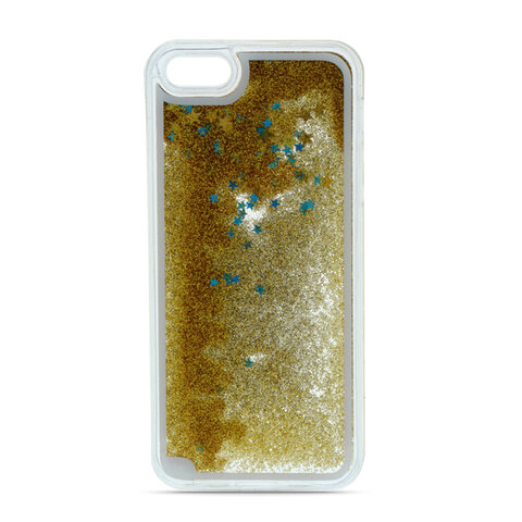 Nakładka Liquid Glitter TPU do Samsung S10 Plus złota