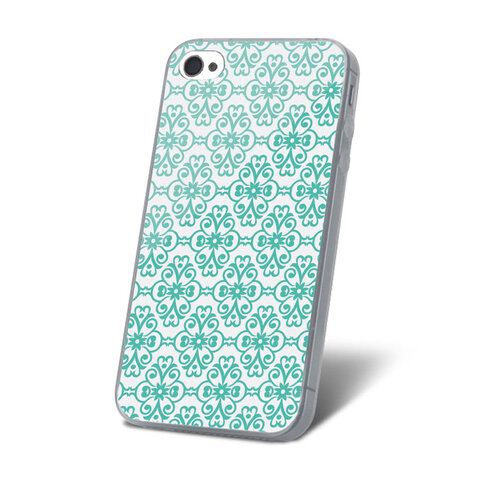 Nakładka Ultra Trendy Flower Lace Mint do Samsung J100