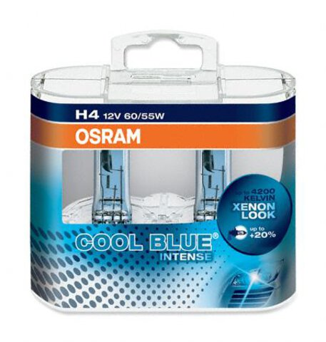 Osram H4 Cool Blue Intense duo pack