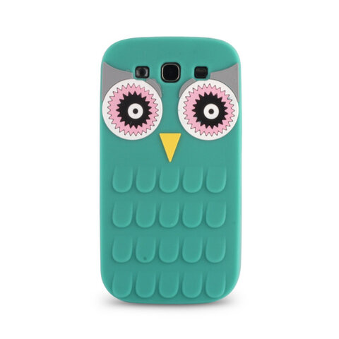 Silikonowa nakładka ANIMAL 3D Owl do iPhone 4 / 4S zielona