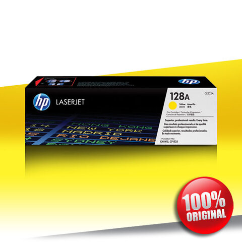 Toner HP 128A (1415) CM CLJ YELLOW Oryginalny 1,3K (CE322A)