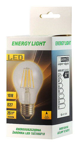 Żarówka LED Filament E27 10W bańka Energy Light RETRO