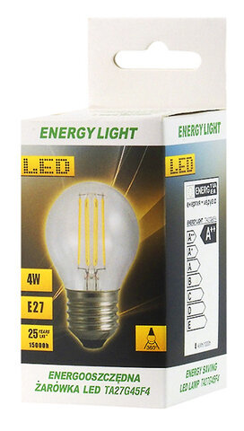 Żarówka LED Filament E27 4W kulka Energy Light RETRO