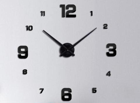 Zegar ścienny Naklejany Czarny Z 4 Dużymi Cyframi Sklep Internetowy Seltrade